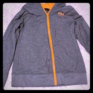 Grey and orange FILA SPORT hoodie